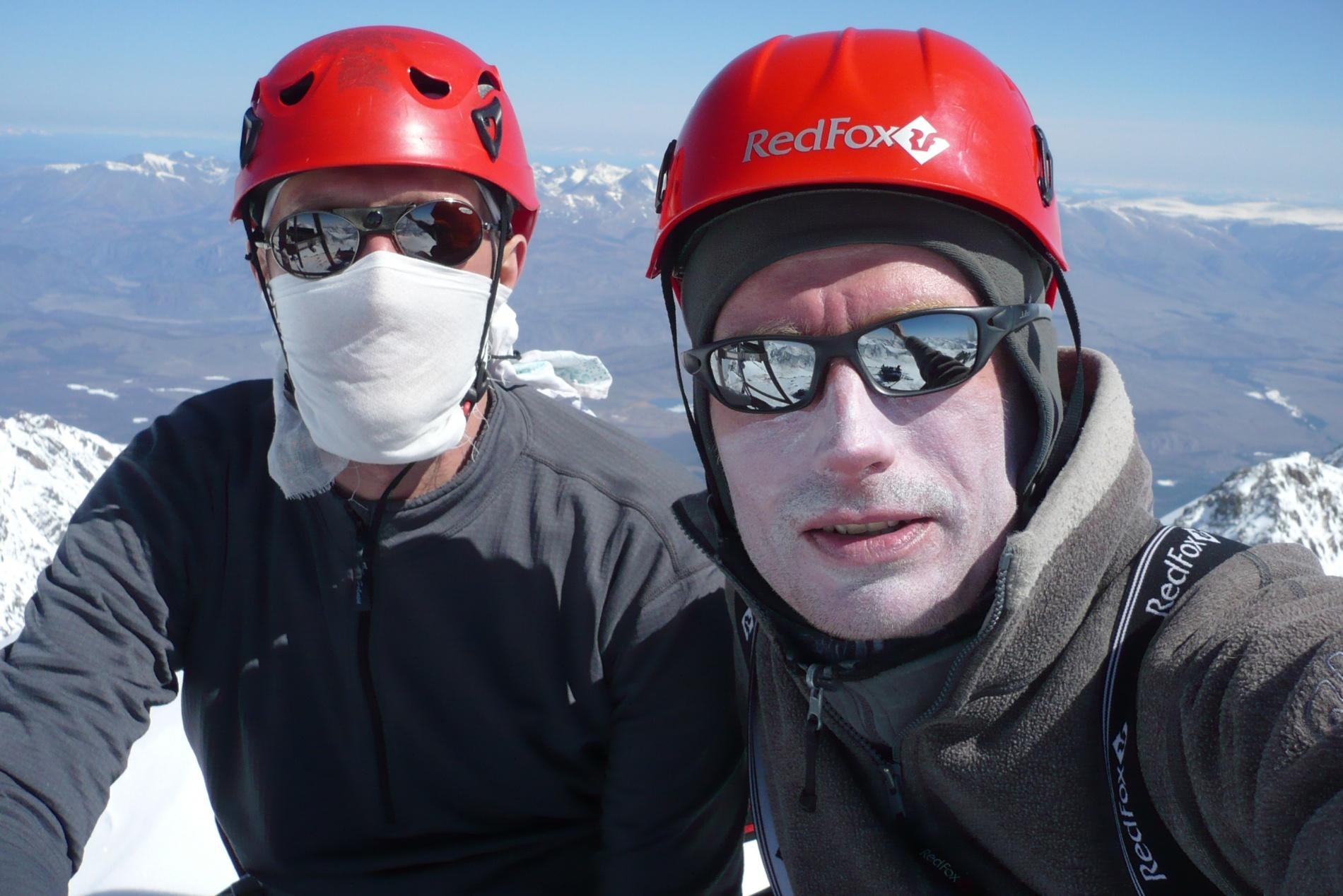 На вершине Актру (4 044 м н.у.м.)