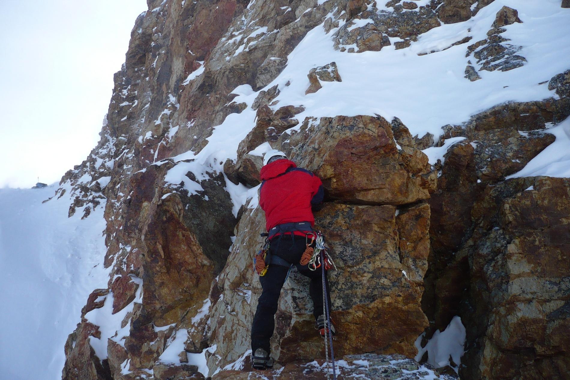 Ключ маршрута на Кзылташ - скальная стенка